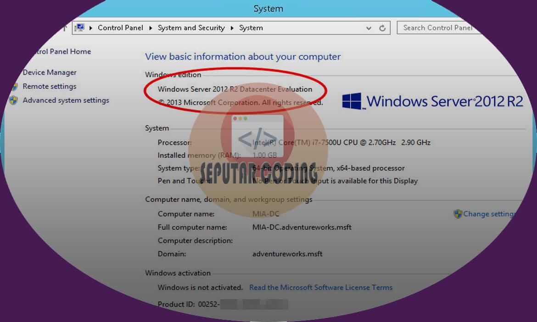 Cara Merubah Windows Server 2016 Evaluation Menjadi Full Version