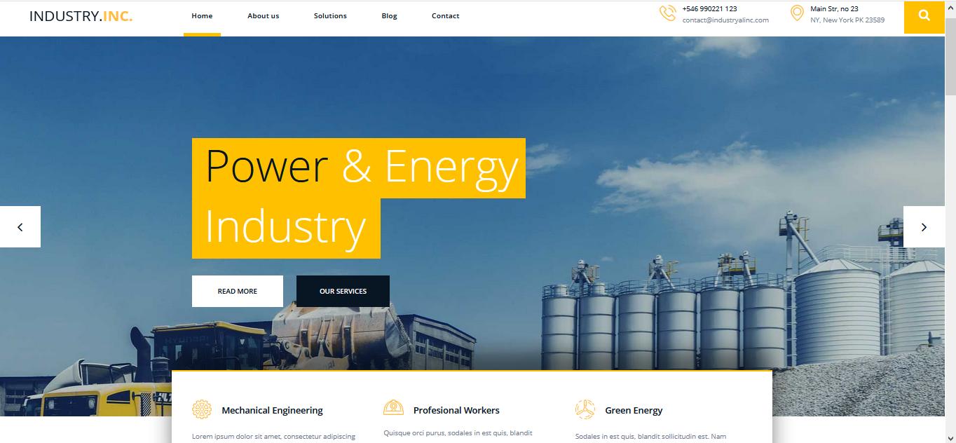 Template Website Industri