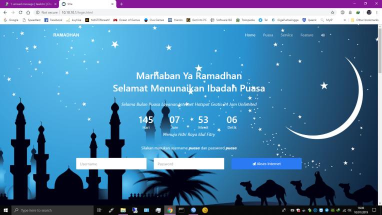 Template Halaman Login Mikrotik Spesial Ramadhan