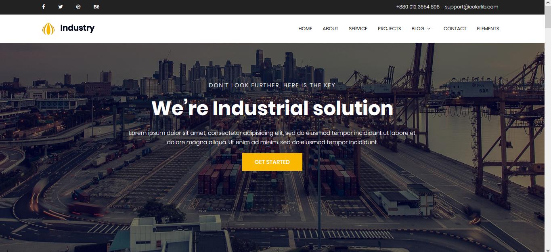Template Website Industrial