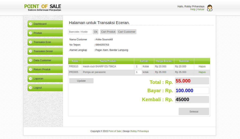 Aplikasi Penjualan Minimarket