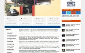Download Website Company Profile Bengkel Mobil Responsive