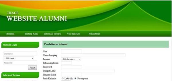 Aplikasi Website Alumni (Website CDC) PHP Dan MYSQL Gratis